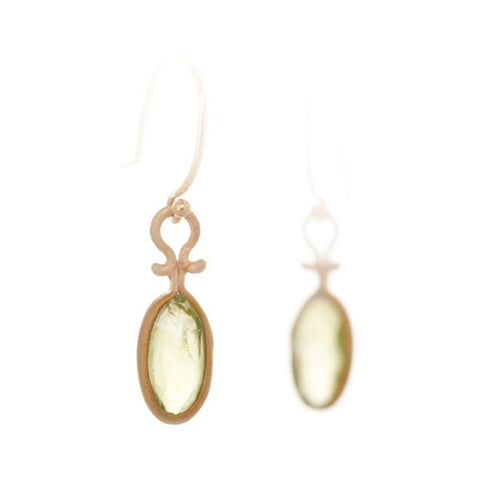 Dewdrop Prehnite Earrings