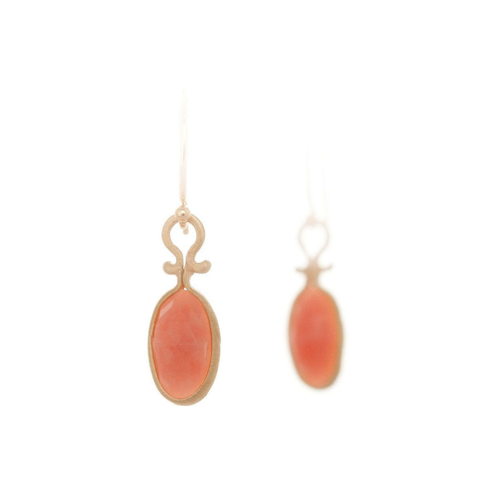 Dewdrop Pink Opal Earrings