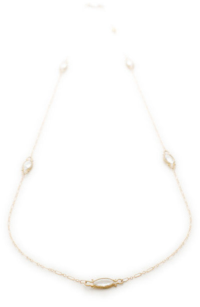 Dewdrop Quartz Long Necklace