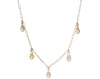 Dewdrop Five Drop Opaque Diamond Necklace