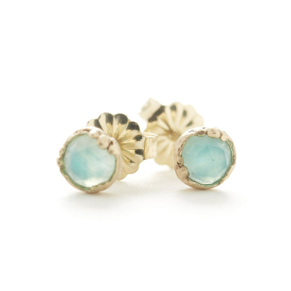 Dewdrop Peruvian Opal Small Stud Earrings