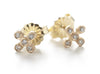 Dewdrop Diamond Cross Stud Earrings