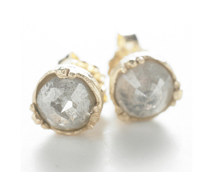 Dewdrop Opaque Diamond Stud Earrings