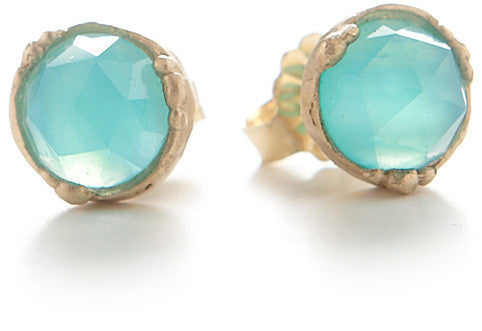 Dewdrop Peruvian Opal Stud Earrings