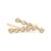 Dewdrop Diamond Long Line Stud Earrings