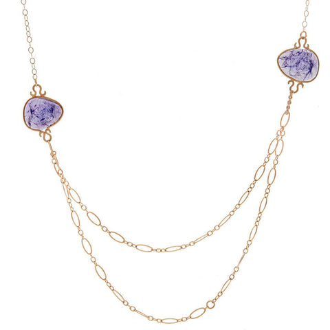Drape Tanzanite Necklace