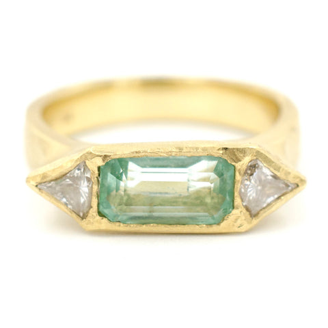 Etruscan Emerald Diamond Ring