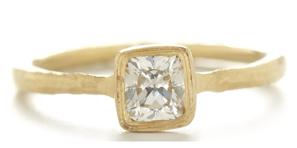 Etruscan Cushion Cut Diamond Ring