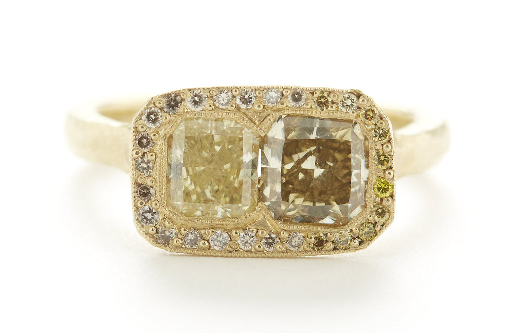Etruscan Canary Cognac Diamond Ring