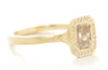 Etruscan Cognac Diamond Halo Ring