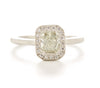 Etruscan Yellow Diamond Halo Ring