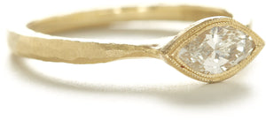Etruscan Marquise Diamond Ring