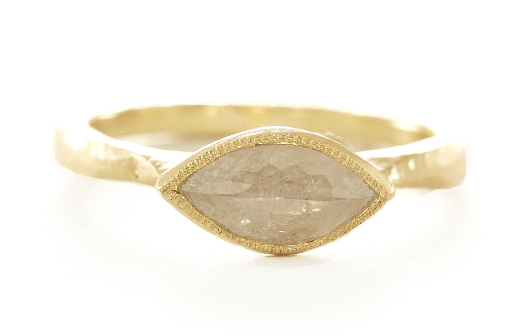 Etruscan Opaque Diamond Marquise Ring