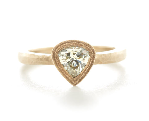 Etruscan Pear Diamond Ring