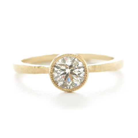 Mountings Etruscan Round Solitaire Ring
