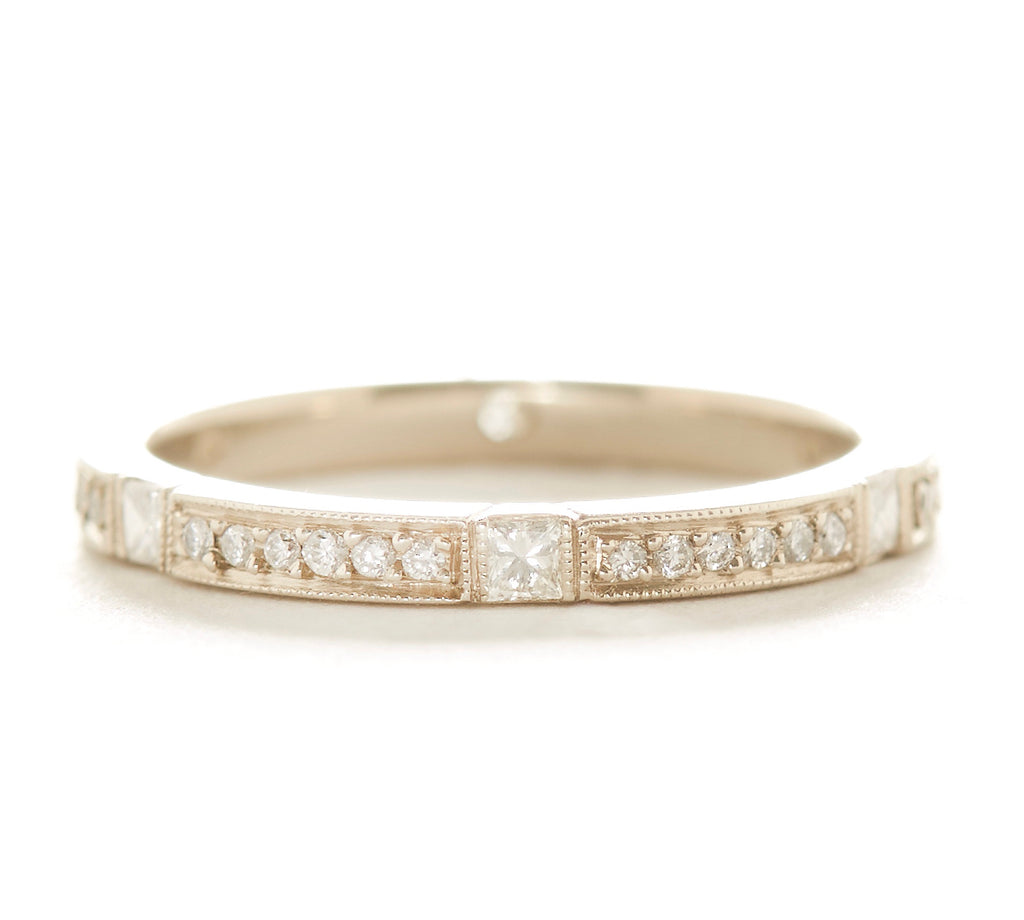 Eternity Square Diamond Pave Band