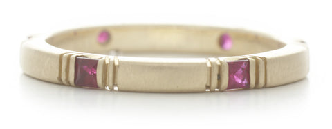 Eternity Square Ruby Band