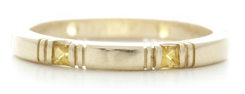 Eternity Square Yellow Sapphire Band