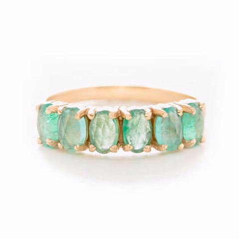 Facet Emerald Ring