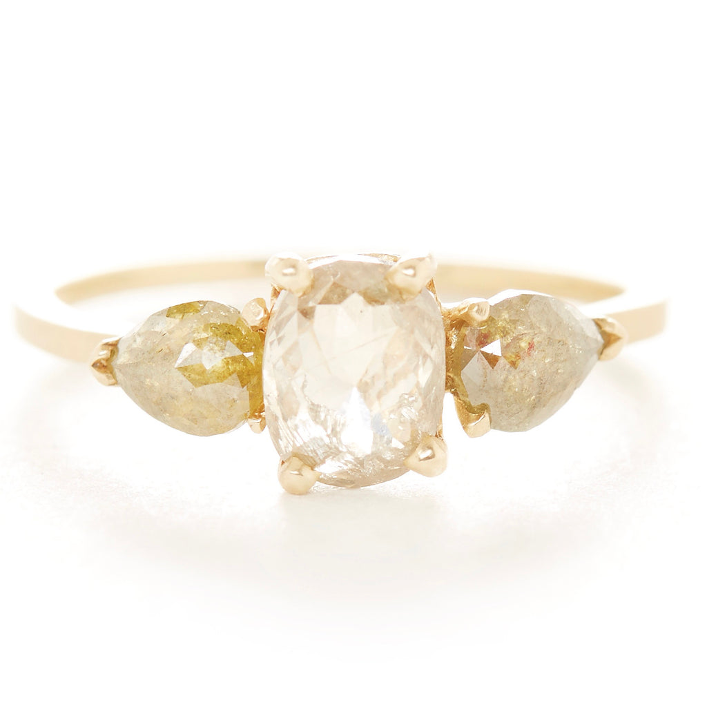 brilliant cut facet white p diamond carat gold ring