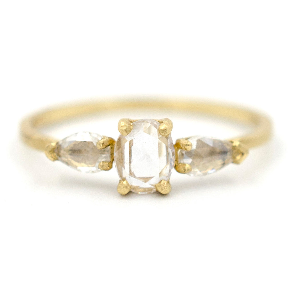 size p gold cut brilliant ring carat white facet k diamond