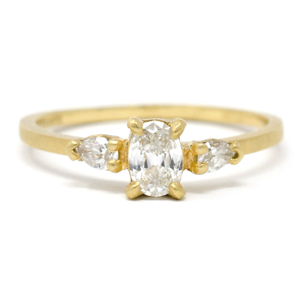 Facet Dainty Three Stone Diamond Ring