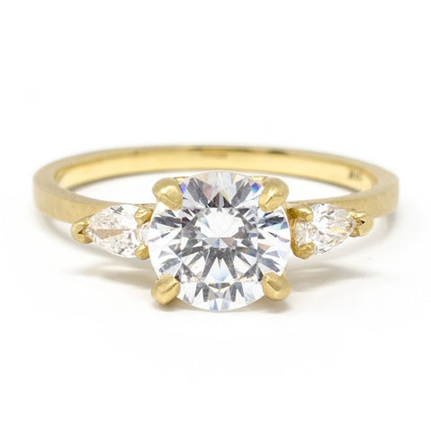 Mountings Facet Three Stone Diamond Ring
