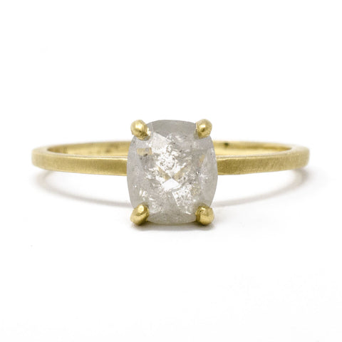 Stacking Rough Cut Diamond Ring