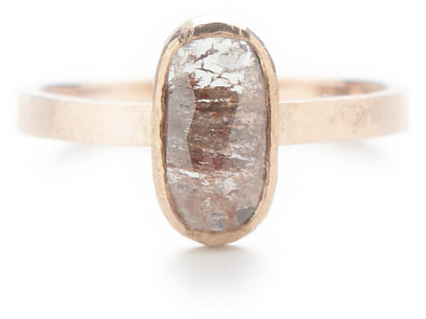 Hewn Band One of a Kind 1.5 Carat Opaque Diamond