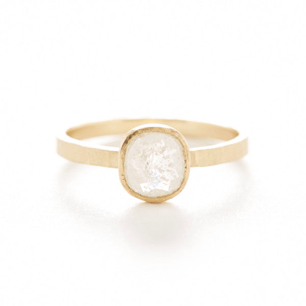 Hewn Oval Opaque Diamond Ring