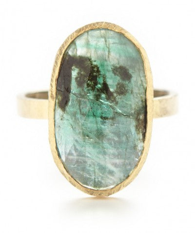 Hewn Band One of a Kind Emerald