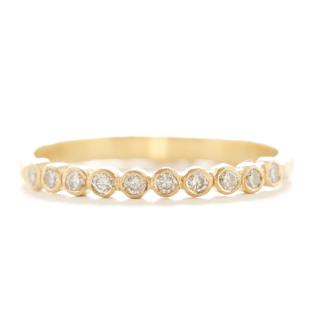 Hewn Ten Dot White Diamond Ring