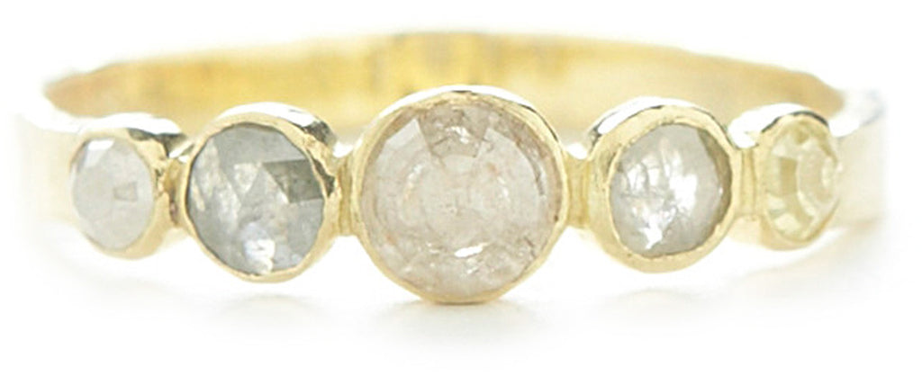 Hewn Five Dot Graduated Opaque Diamond Ring