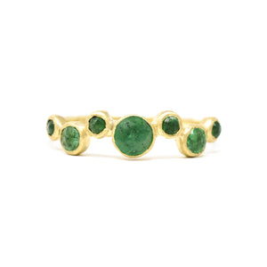 Hewn Seven Dot Emerald Ring