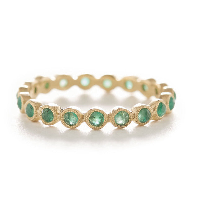 Hewn Dot Eternity Emerald Ring