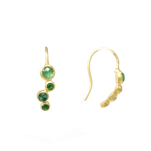 Wabi Sabi Emerald Earrings