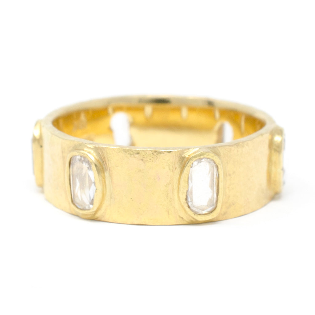 Hewn Eternity Large Oval Diamond Band