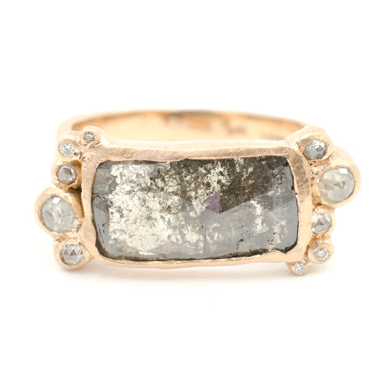 Hewn Rock Candy Opaque Grey Diamond Ring