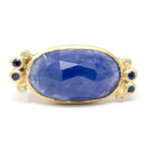 Hewn Rock Candy Blue Sapphire Diamond Ring