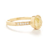 Hewn Oval Opaque Diamond Pave Ring