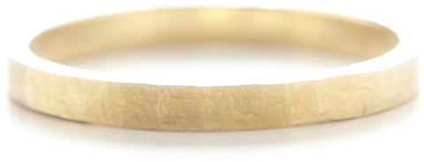 Men's Hewn Hammered 2mm Plain Band