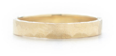 Men's Hewn Hammered 3mm Plain Band