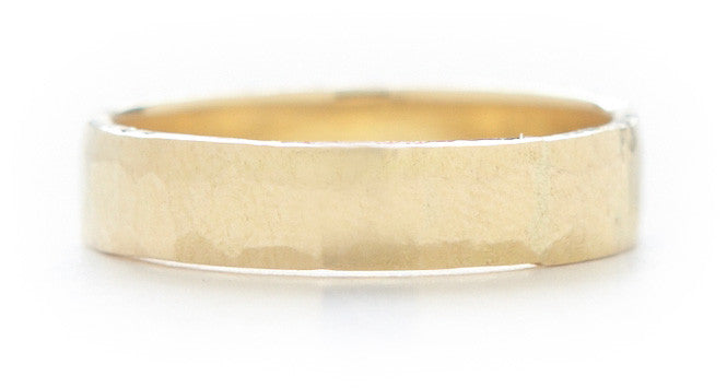 Men's Hewn Hammered 4mm Plain Band