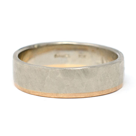 Hewn 6mm Two Tone Plain Band