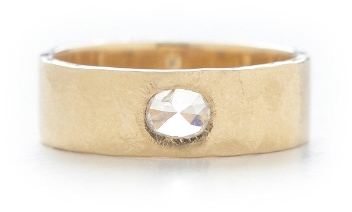 Hewn Plain Diamond Band