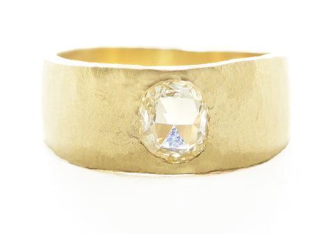Hewn Tapered Diamond Band