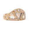 Hewn Taper Macle Diamond Ring