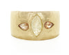 Hewn Tapered Three Stone Opaque Diamond Ring