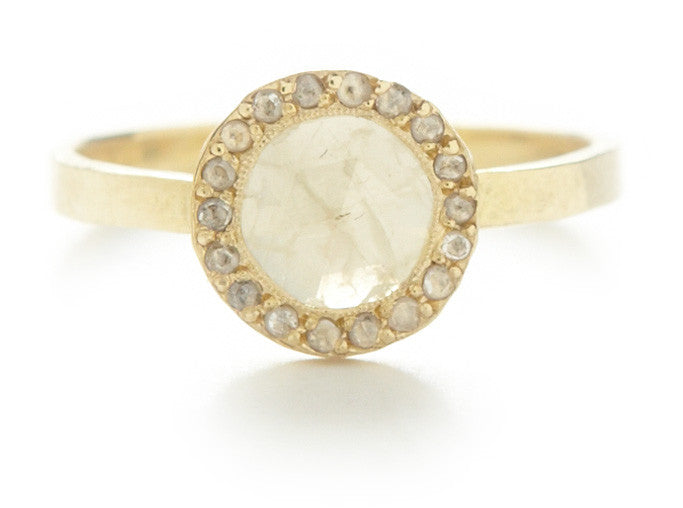Lux Round Opaque Diamond Ring