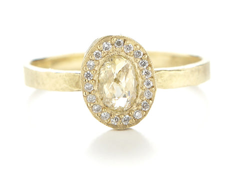Lux Oval Opaque Diamond Ring